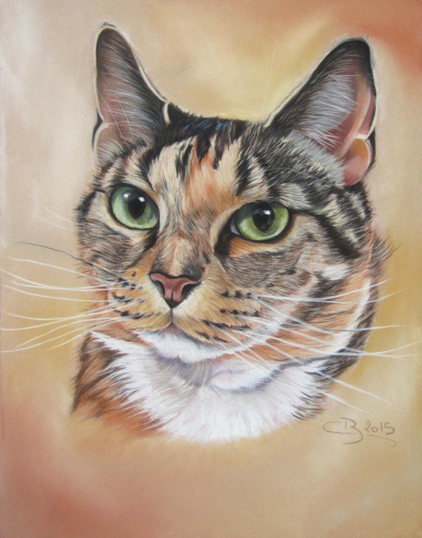 Les pastels de chats artiste animalier - Tableau de chat moderne ...